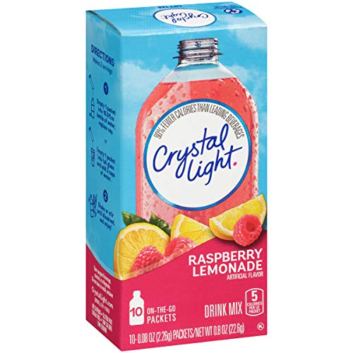 Crystal Light Raspberry Lemonade Drink Mix (60 On the Go Packets, 6 - 60 Enhancer Tabs
