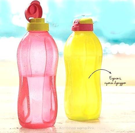 Buycrafty Tupperware - Botellas de agua de 2 litros con tapa abatible, dispensador de agua fría, 1 unidad: Amazon.es: Hogar