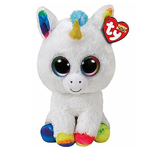 Ty Beanie Boos Pixy   White Unicorn Reg Plush