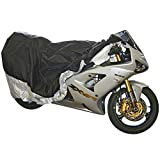 Black Widow Rage Powersports DMC-M Sport Bike Street Cruiser Motorcycle Cover (Medium Waterproof 80 X 44)