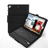 Vivefox iPad 9.7 Keyboard + Leather Case - 2018 iPad Folio Stand Cover, Detachable Keyboard Case with Pencil Holder, Auto Wake/Sleep Compatible Apple iPad 2018/2017, iPad Pro 9.7, iPad Air 2, (Black)