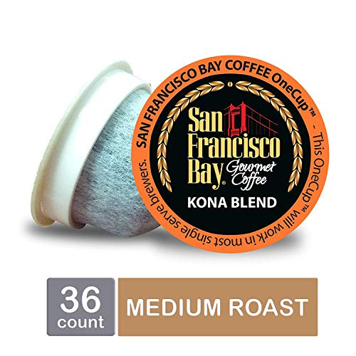 San Francisco Bay OneCup, Kona Blend, Single Serve Coffee K-Cup Pods (36 Count) Keurig Compatible