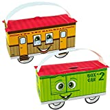 2nd Birthday Train Party Supplies - Empty Favor Boxes (4)