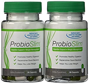 SmartBiotics ProbioSlim Probiotic Supplement Digestive Health Weight Loss 30 Ct (2 Pack)
