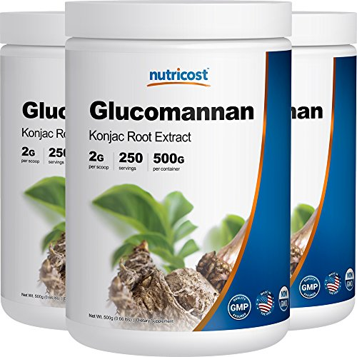 Nutricost Glucomannan Powder 500G (3 Bottles) by Nutricost