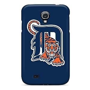 WandaDicks Samsung Galaxy S4 Shock Absorption Cell-phone Hard Cover Allow Personal Design Stylish Baseball Detroit Tigers Pattern [rbd29782UoKb]
