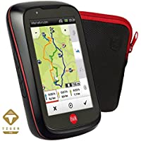 Falk Fahrrad GPS Navigationsgerät Tiger, 3,5 kapazitives Display, 25 bis 31 Europäische Länder, Trackaufzeichnung, Rundkursfunktion, Fahrradhalterung, schwarz/rot