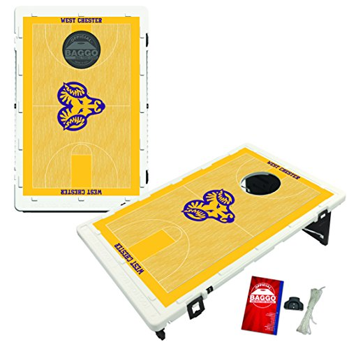 West Chester University Golden Rams Baggo Bean Bag Toss Cornhole Game Homecourt Design by Victory Tailgate