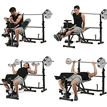 Amazon Com Body Champ Bcb5860 Olympic Weight Bench With