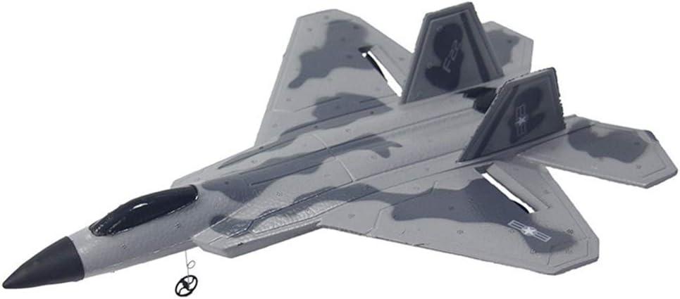 Reuvv Epp Dron Juguete Modelismo RC Avión Juguete Jet Luchador Avión Principiantes Niños Exterior Phantom RC Luchador 3.0 Juguete