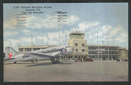 Western Air Lines Orlando Municipal Airport Orlando FL postcard - Fl Orlando Airports