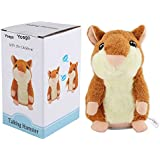 Yoego Cute Mimicry Pet Talking Hamster Repeats What You Say Plush Animal Toy Electronic Hamster Mouse for Boy and Girl Gift,3 x 5.7 inches( Brown )
