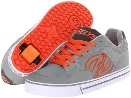 Heelys Motion Skate Shoe, Gray/Orange, Men's US Size 8