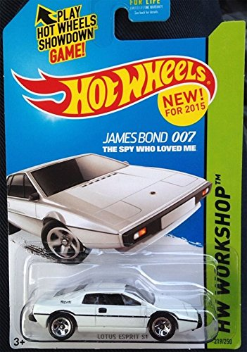 Collectable License Plate (Hot Wheels 205 Lotus Esprit S1 James Bond The Spy Who Loved Me HW Workshop 219/250)
