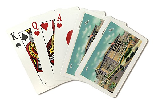 Chicago, Illinois - Exterior View of the Art Institute (Playing Card Deck - 52 Card Poker Size with Jokers)