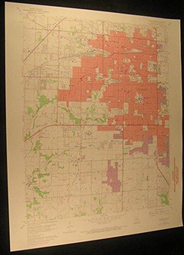 Springfield Missouri Battlefield Mall 1971 vintage USGS original Topo chart - Mall Springfield