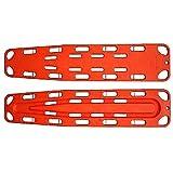 LINE2design Spinal Immobilization Medical Backboard with Speed Clip Pins Orange