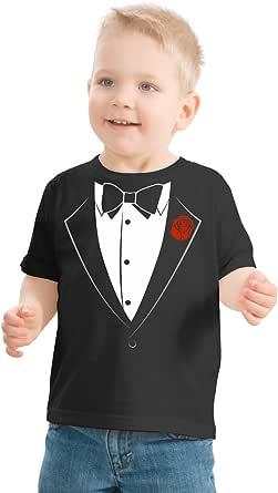 Ann Arbor T-shirt Co. Big Boys' Tuxedo Tee   Kid's Wedding Youth & Toddler Shirt