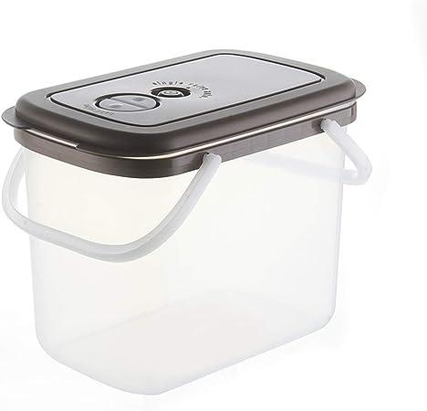 Domésticos de Cocina Arroz Barril de plástico Caja de Almacenamiento de arroz Arroz Sellado del Cilindro a Prueba de Insectos a Prueba de Humedad de la harina Cubo (Color : B): Amazon.es: