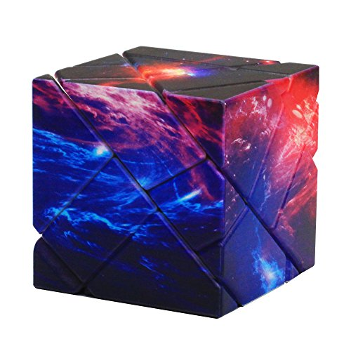 Acekid 3D Galaxy Ghost Cube Advanced Rubiks Cube Magic Speed Rubix Cube Brain Teasers Intelligence Puzzles with Carbon Fiber Sticker for Kids Adults 3d Cube Puzzle