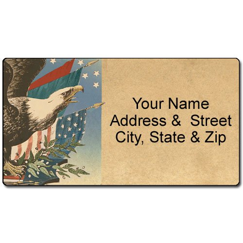 Personalized American Eagle & Flag Addre - Patriotic Address Labels Shopping Results