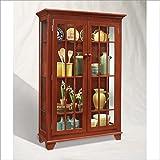 Philip Reinisch Color Time Monterey Two Door Display Cabinet, Chili Pepper  Red