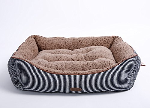 Luxury Self Warming Premium Dog Bed With Ultra Soft Detachable Plush Sherpa & Thick Organic Cotton - A Dogs and Puppies DREAM BED | 25