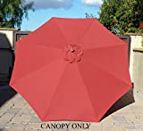 Formosa Covers 9ft Umbrella Replacement Canopy 8 Ribs in Brick Red (Canopy Only) For Sale