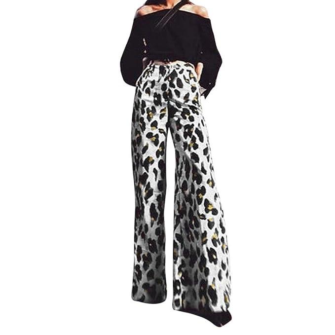 Vectry Moda Mujer Sexy Estampado De Leopardo Pantalones ...