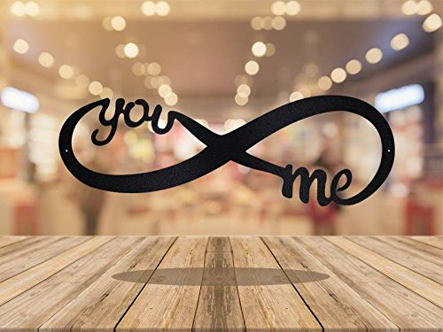 You and Me Infinity sign 24 inches by AJD Designs