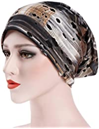 Women India Hat Muslim Ruffle Hat Beanie Scarf Turban Head Wrap Cap for Cancer Chemo Patients