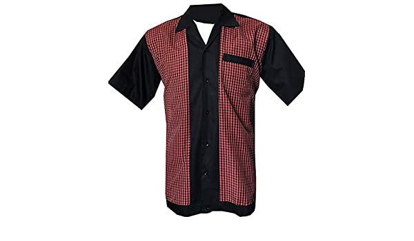 Rockabilly Fashions - Camisa de bolos para hombre, estilo retro, estilo vintage de los años 50 y 60: Amazon.es: Ropa y accesorios
