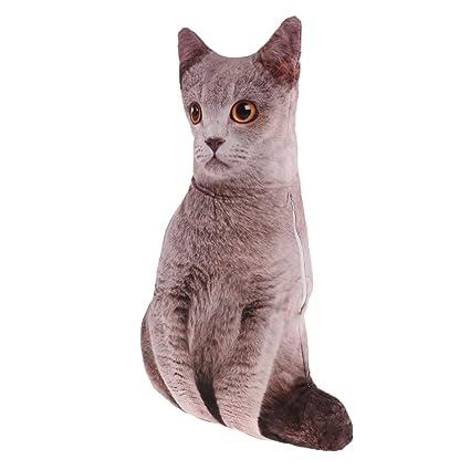 B Baosity Cojines de Peluche Forma de Gato de Almohada ...