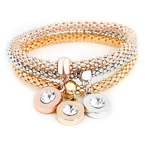 OASIS LAND Fashion Jewelry Retro Ethnic Wind Diamond Pendant Stretch Corn Chain Popcorn Bracelet Female Jewelry
