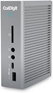 CalDigit TS3 Plus Thunderbolt 3 Dock - 87W Charging, 7X USB 3.1 Ports, USB-C Gen 2, DisplayPort, UHS-II SD Card Slot, LAN, Optical Out, for 2016+ MacBook Pro & PC (Space Gray - 0.7m/2.3ft Cable)