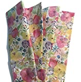 Watercolor Field Flowers Printed Tissue Paper for