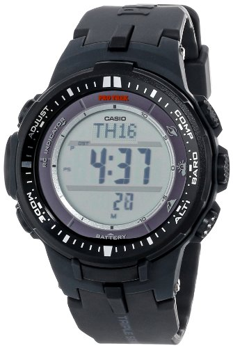 Casio Men's Pro Trek PRW-3000-1CR Tough Solar Triple Sensor Multi-Function Watch