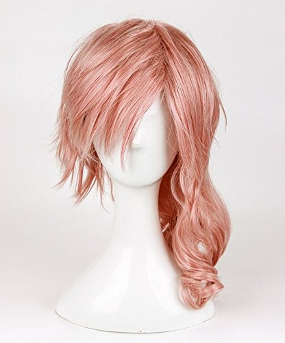 Price comparison product image Cosplay Wig for Long Mix Pink Wig Final Fantasy Lightning Srah Wig Heat Resistant Fiber Party Wigs