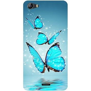 reputable site ebd02 e94e1 Casotec Flying Butterflies Design Hard Back Case Cover for Micromax Bolt  Q338