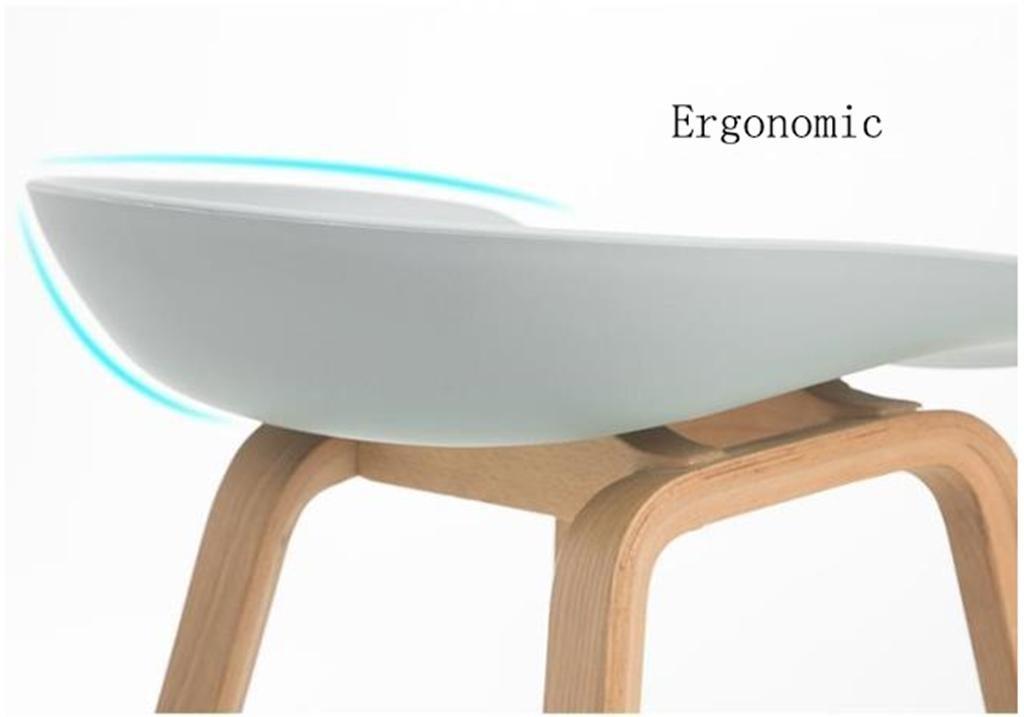 Dzw sgabelli moderni da cucina con gambe in legno sgabello alto