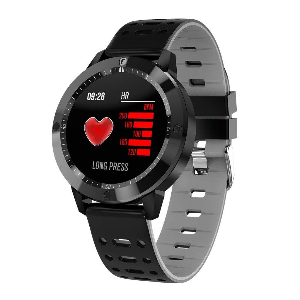 Touch Smart Watch,CF58 Bracelet Eashion Men and Women Sports Bracelet Heart rate/Blood Pressure/Blood Oxygen Monitor Waterproof (Gray)