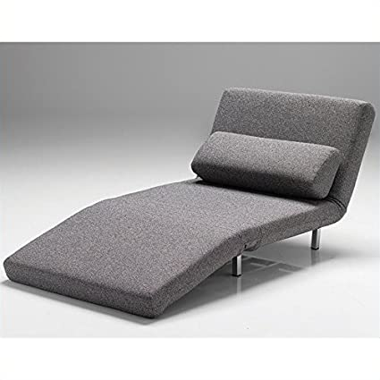 Astonishing Mobital Iso Chair Bed In Charcoal Tweed Pdpeps Interior Chair Design Pdpepsorg