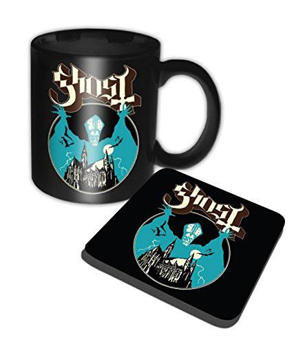 Ghost Mug And Coaster Opus Eponymous Band Logo Official Gift Set