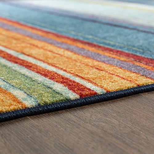 2 X8 Mohawk Home Decor New Colorful Stripe Wave Rainbow