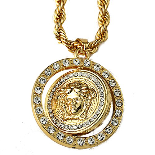 14K Gold Plate Iced Out Hip Hop