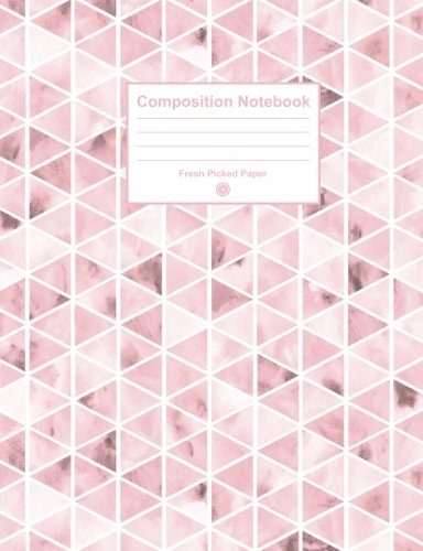 Composition Notebook: Cute College Ruled Notebook with Trendy Light Pink Watercolor Cover, for Journaling, School Supplies, Note Taking, Planning and Habit Tracker