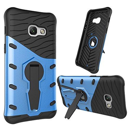 GR Para Samsung Galaxy A3 2017 Dual Layer Armor Shield protector a prueba de golpes con ajuste Kickstand funda ( Color : Red ) Blue
