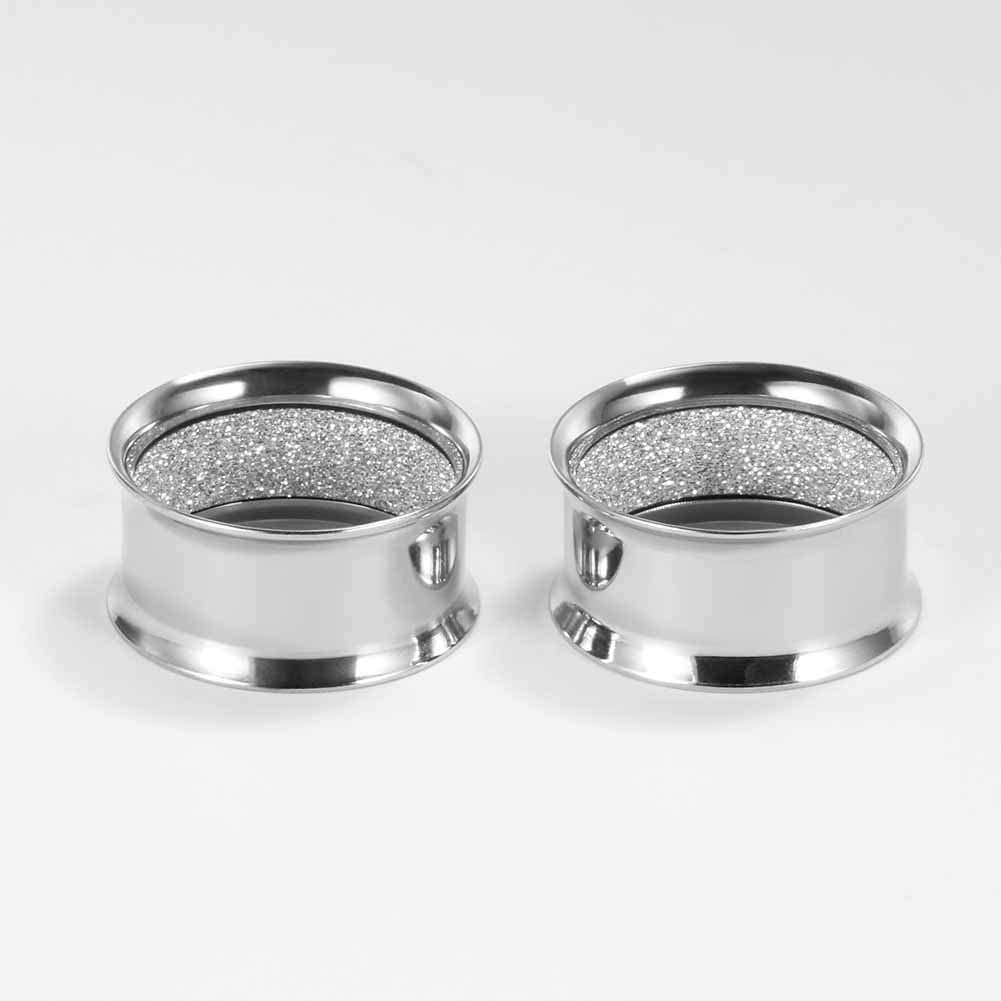 TBOSEN 2PCS Screwed Ear Tunnels Plugs and Tunnels for Ears Stainless Steel Ear Gauges Piercing Hangers Ring Expander Stretchers 0g-1 in 8mm-25mm