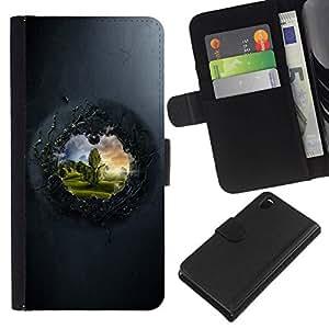 All Phone Most Case / Oferta Especial Cáscara Funda de cuero Monedero Cubierta de proteccion Caso / Wallet Case for Sony Xperia Z3 D6603 // View To The Other Side