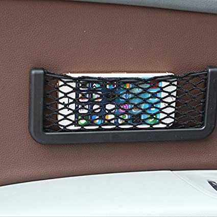 Red de almacenamiento para el asiento del autom/óvil y rejilla para sujetar el bolso,bolsillo avanzado para el bolsillo de la red del coche,cuero de PU entre el almacenamiento del asiento del coche